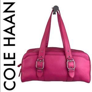 COLE HAAN LARGE PINK LEATHER SHOULDER BAG